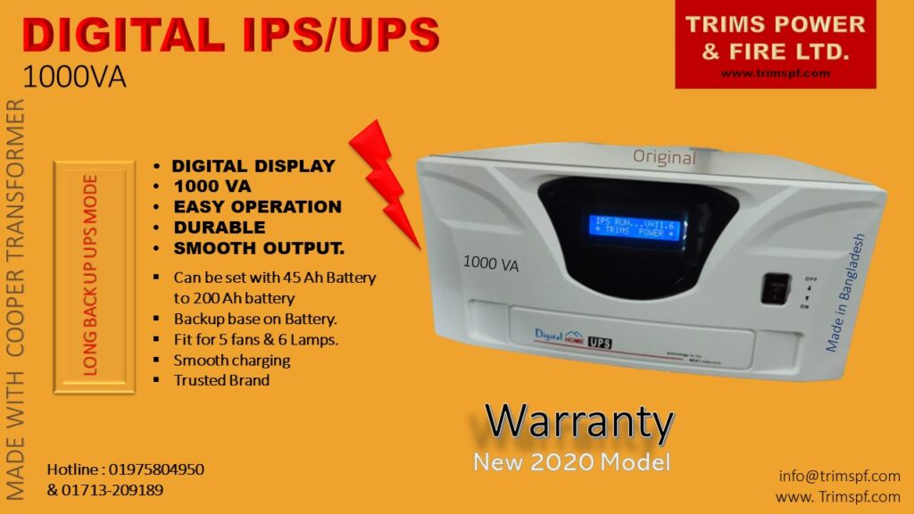 IPS UPS 1000VA Trims Power