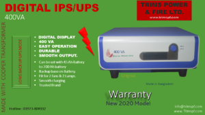 IPS UPS 400 VA Trims Power