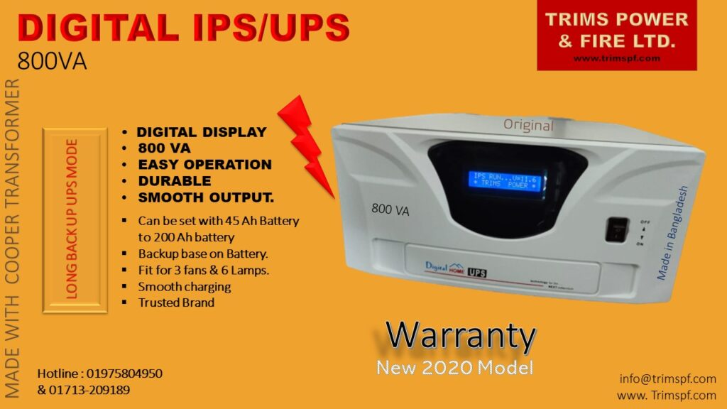IPS UPS 800VA Trims Power