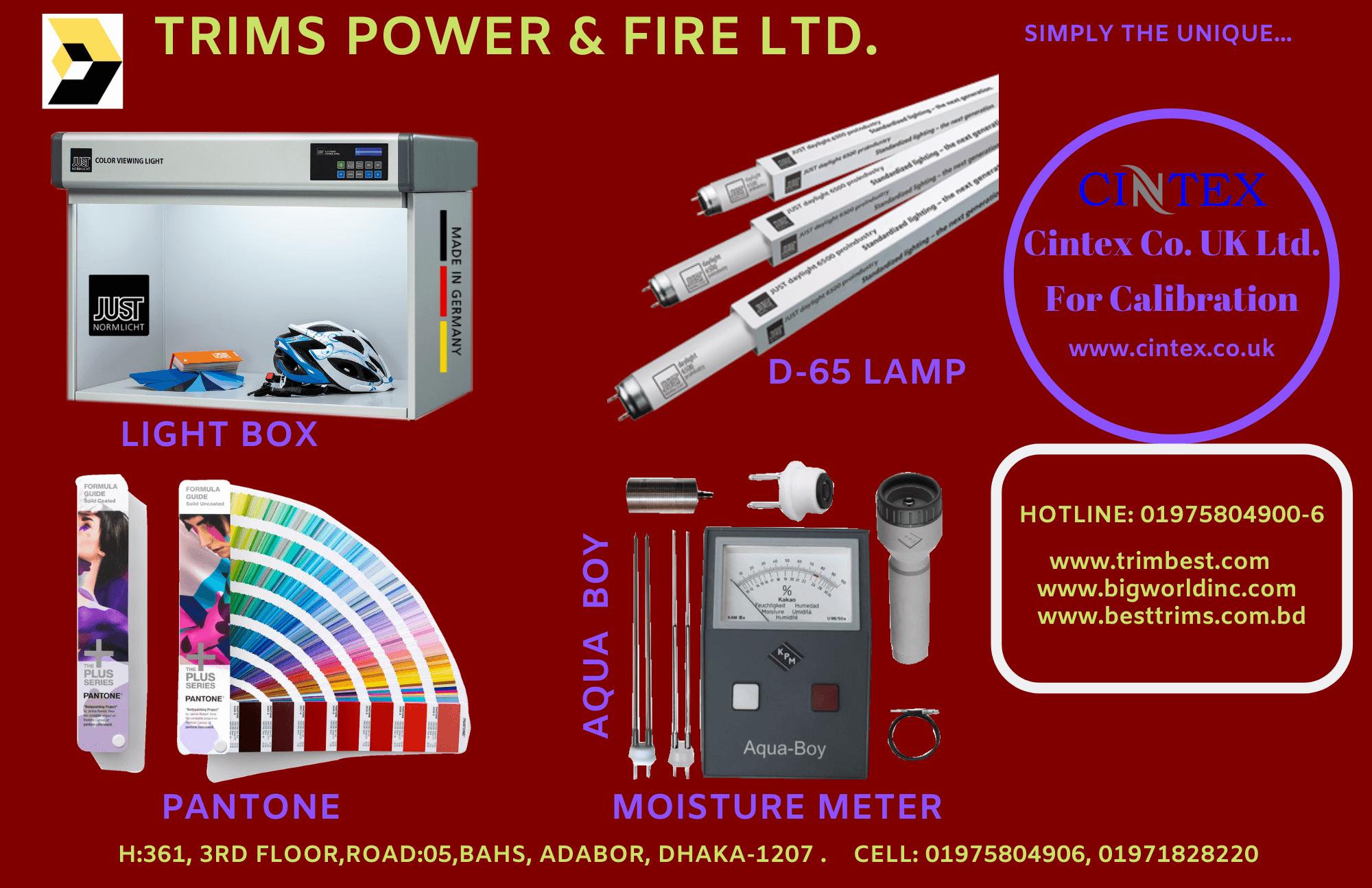 Lightbox D65 Lamp Pantone Moisture Meter Supplier Bangladesh